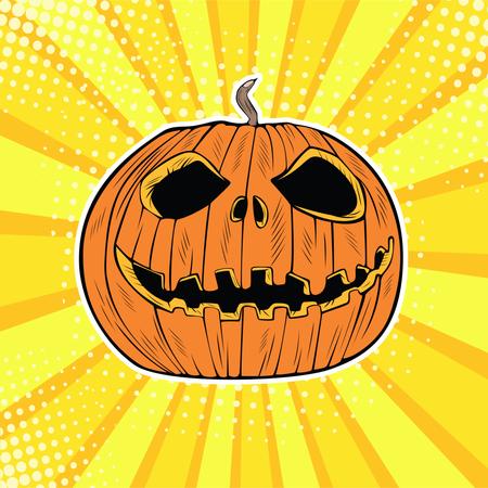 Halloween Jack pumpkin head Illustration