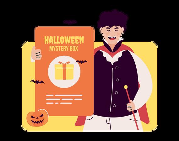 Halloween mystery box Illustration