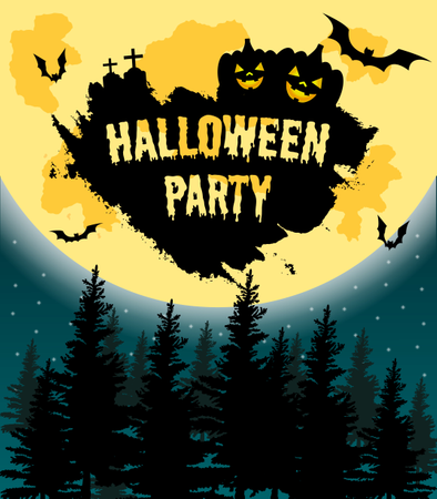 Halloween Party Vector Illustration