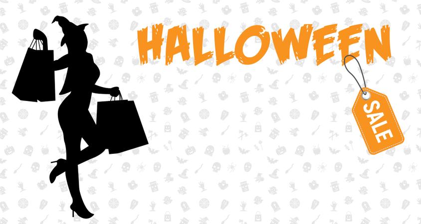 Halloween Sale Background Illustration