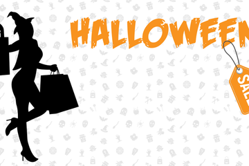 Halloween Sale Posters Stock Images
