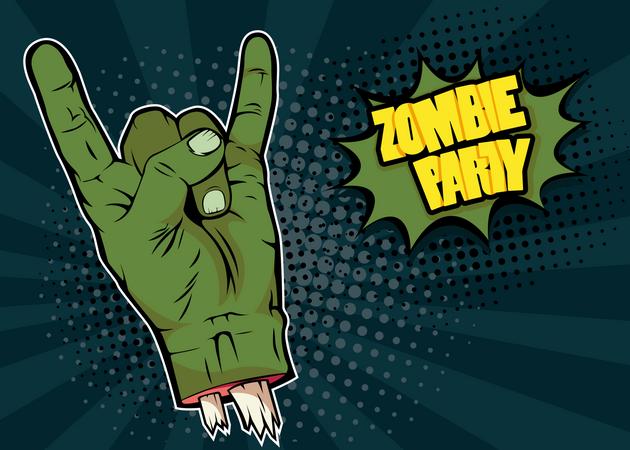 Halloween Zombie Party Illustration