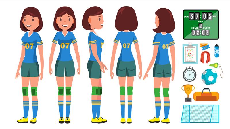 Handball Girl Player Female Illustration