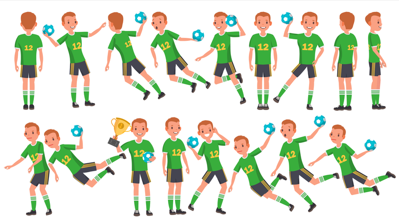 Handball Male Player Illustration