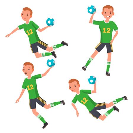 Handball Player Male Illustration