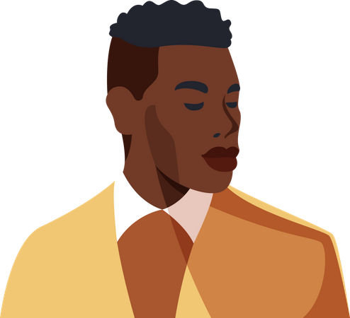Handsome black men wearing suit Illustration