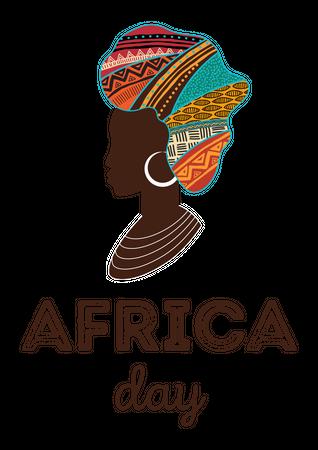 Happy Africa Day Illustration