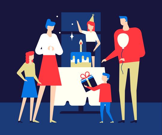 Happy birthday party Illustration