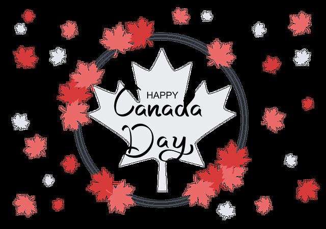 Happy Canada Day Illustration