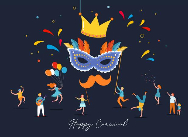 Happy carnival Illustration