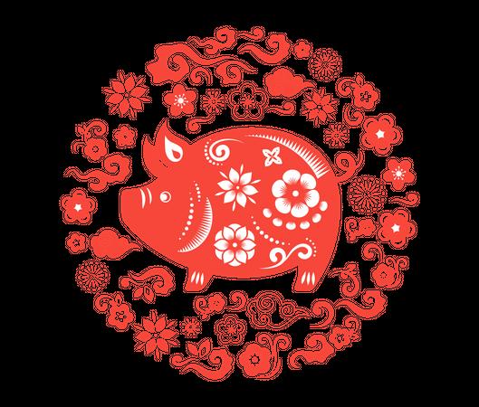 Happy Chinese new year Illustration