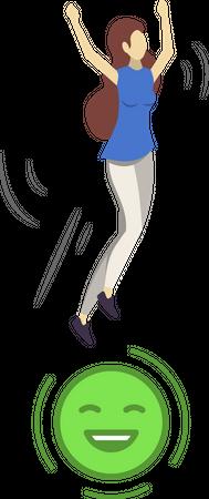 Happy customer Illustration