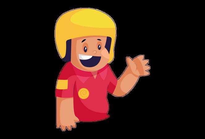 Happy Delivery Man Illustration