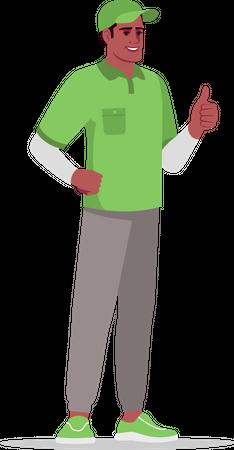 Happy deliveryman Illustration