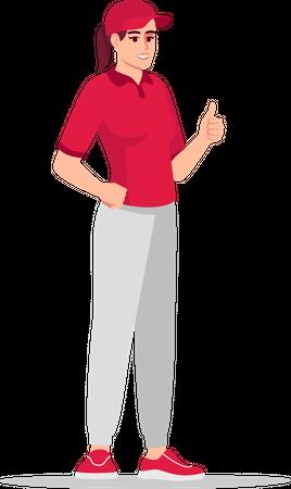 Happy deliverywoman Illustration