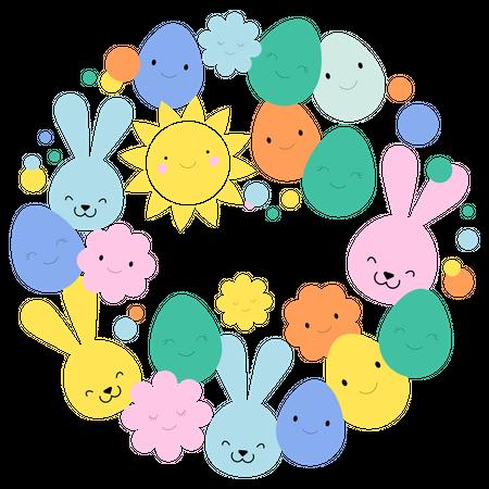 Happy Easter Illustration