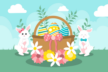 Happy Easter Day Illustration Pack