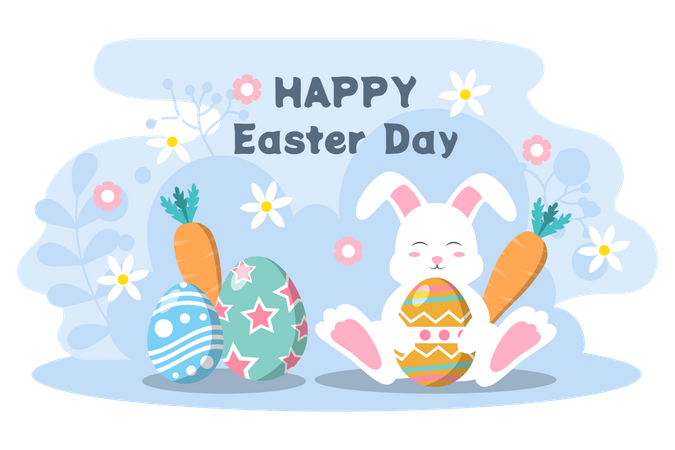 Happy Easter Day Illustration