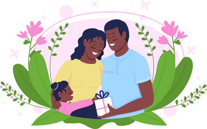 Happy family celebrate mother's day Illustration