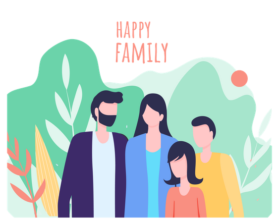 Happy family day Illustration