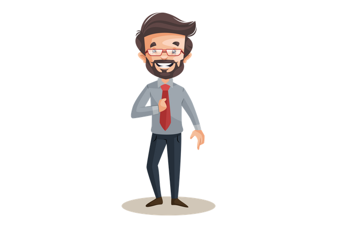 Happy financial advisor Illustration