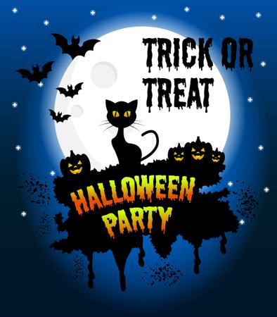 Happy Halloween Vector Poster Illustration