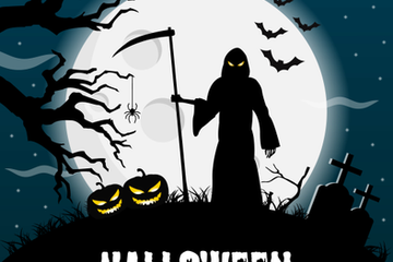 Halloween Posters Stock Images