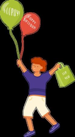 Happy little boy Illustration