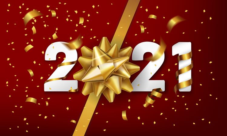 Happy new year 2021 Illustration