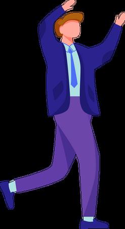 Happy running man Illustration