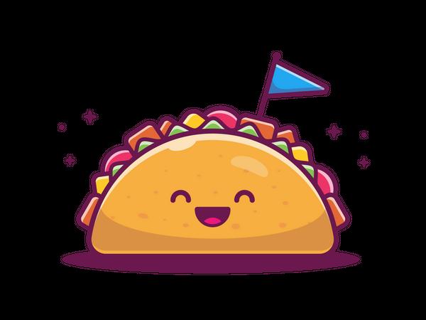 Happy Taco Illustration