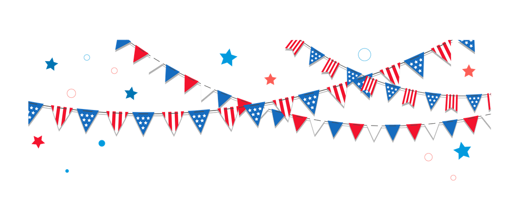 Happy USA Independence Day Illustration