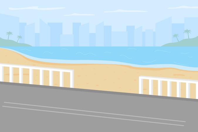 Hawaii beach Illustration