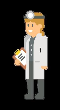 Head doctor Illustration