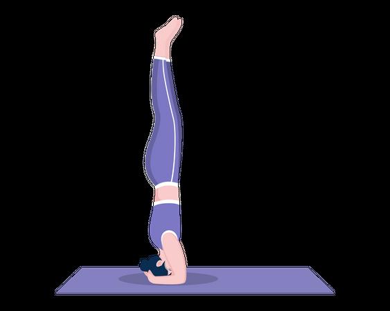 Headstand pose Illustration