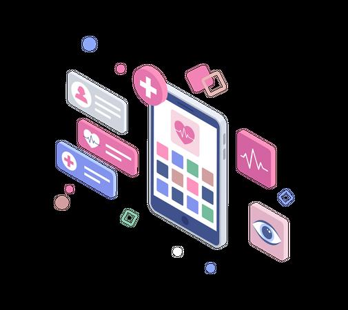 Health apps Illustration