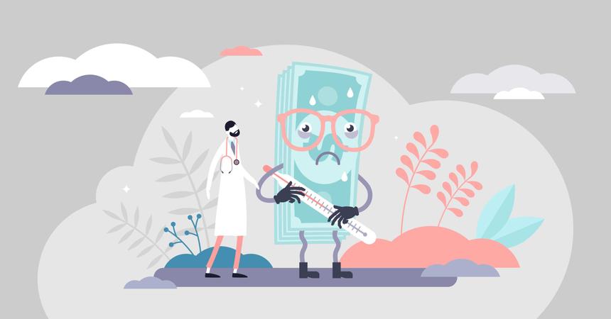 Health care crash concept Illustration
