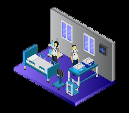 Health center Illustration
