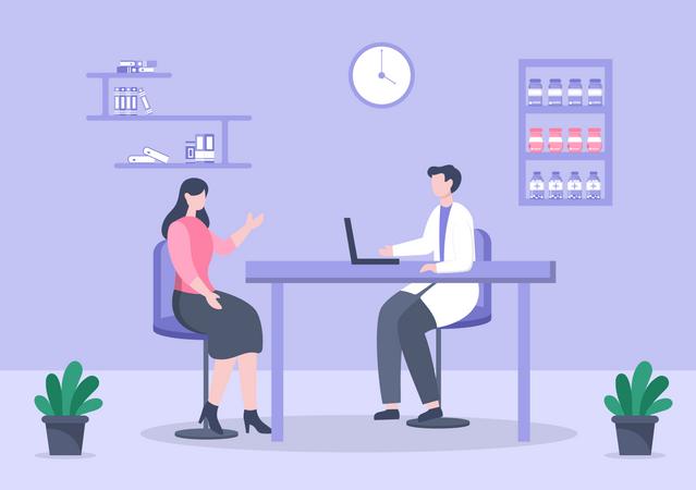 Health checkup Illustration