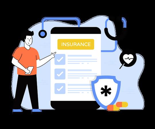 Health Checkup App Illustration