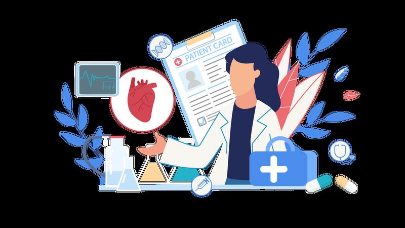 Health diseases guide Illustration