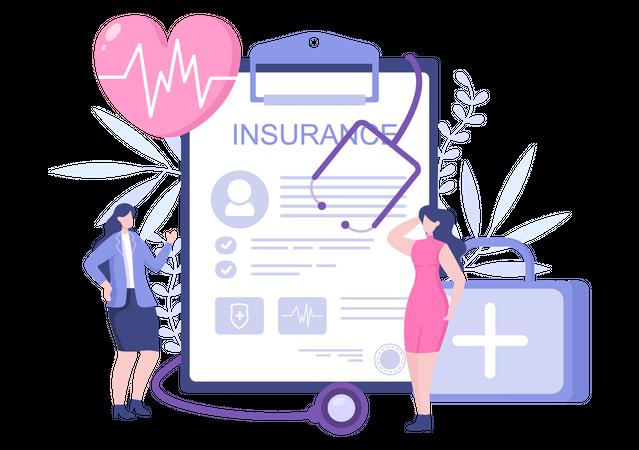 Health Insurance policy Illustration