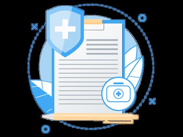Health Insurance Services Illustration