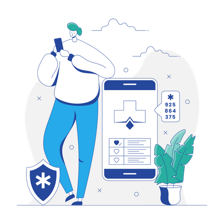 HealthCare App Illustration