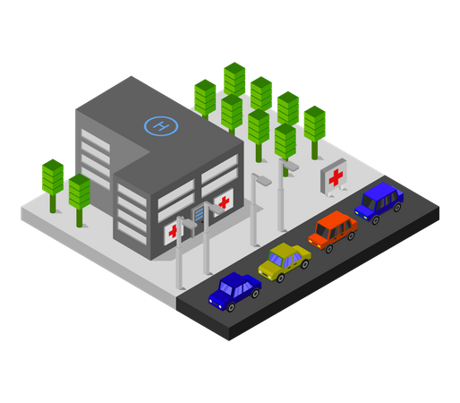 Healthcare building Illustration
