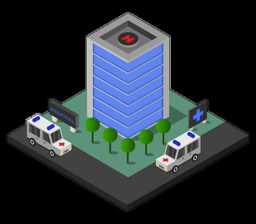 Healthcare facility Illustration