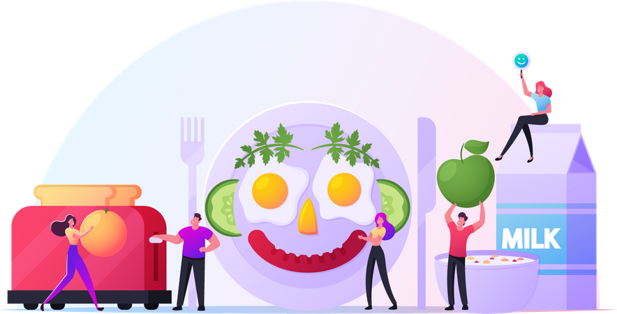 Healthy Breakfast Illustration