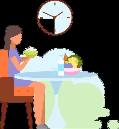 Healthy lunch Illustration