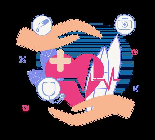 Heart Care Illustration