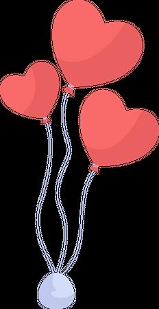 Heart shaped balloon Illustration